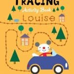 Arty Mouse Tracing childrens coloring book