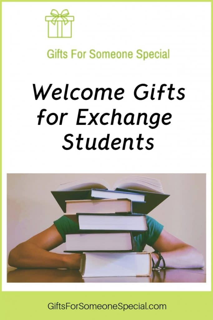 Welcome Gifts for Exchange Students Pinterest Image